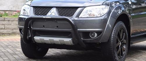 Parachoque Impulsão Quebra Mato Preto Mitsubishi Pajero Tr4