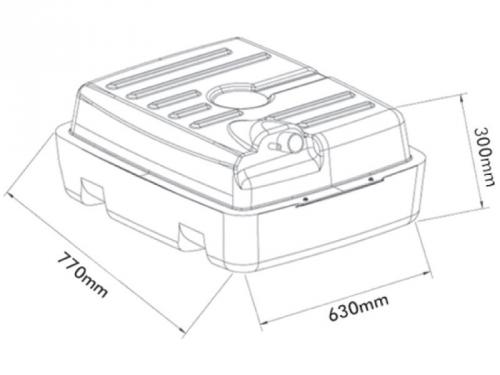 Tanque de combustível plástico gm d20 1991 95 1996