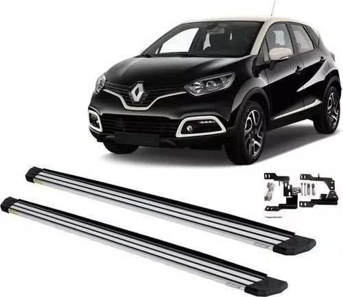 Estribos Laterais Modelo Slim Prata Renault Captur 2017 2018