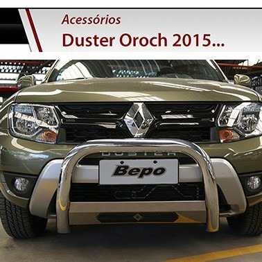 Quebra Mato Cromo Duster Oroch 2016 Parachoque Impulsão Bepo  - TERRA DE ASFALTO ACESSÓRIOS