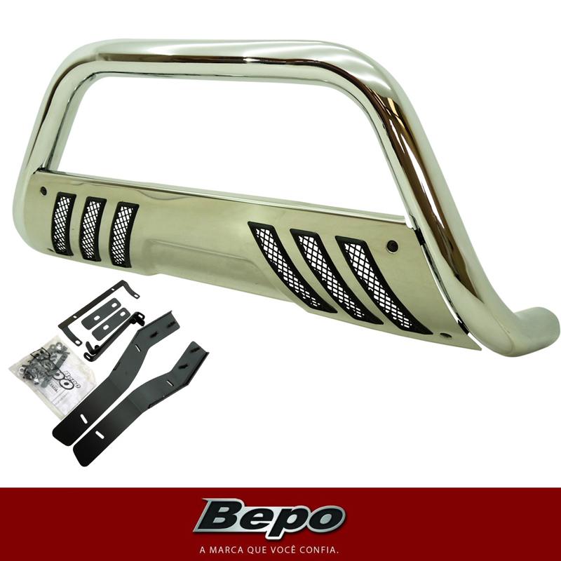 Parachoque De Impulsão Cromado Com Chapa Toyota Hilux Bepo