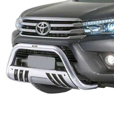 Parachoque De Impulsão Cromado Com Chapa Toyota Hilux Bepo  - TERRA DE ASFALTO ACESSÓRIOS