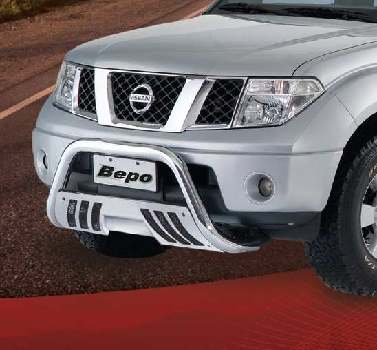 Parachoque De Impulsão Cromado Com Chapa Nissan Frontier Bepo