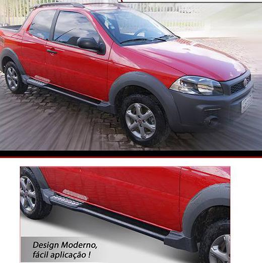 Estribo para Fiat Strada Adventure 2014 em diante  Bepo  - TERRA DE ASFALTO ACESSÓRIOS