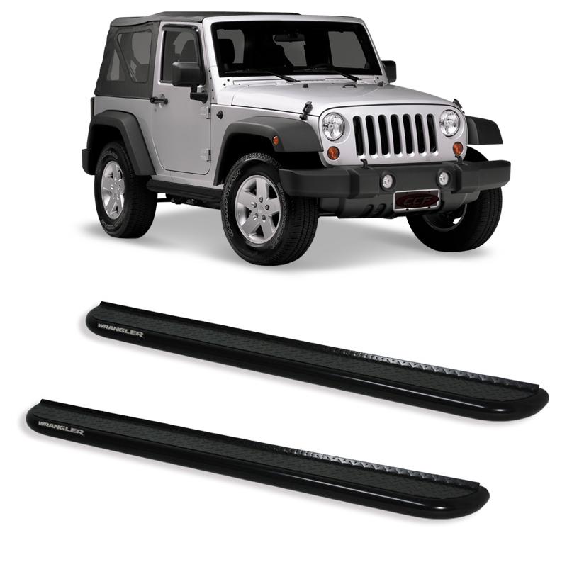 Estribo Plataforma Preto Jeep Wrangler 2P  - TERRA DE ASFALTO ACESSÓRIOS