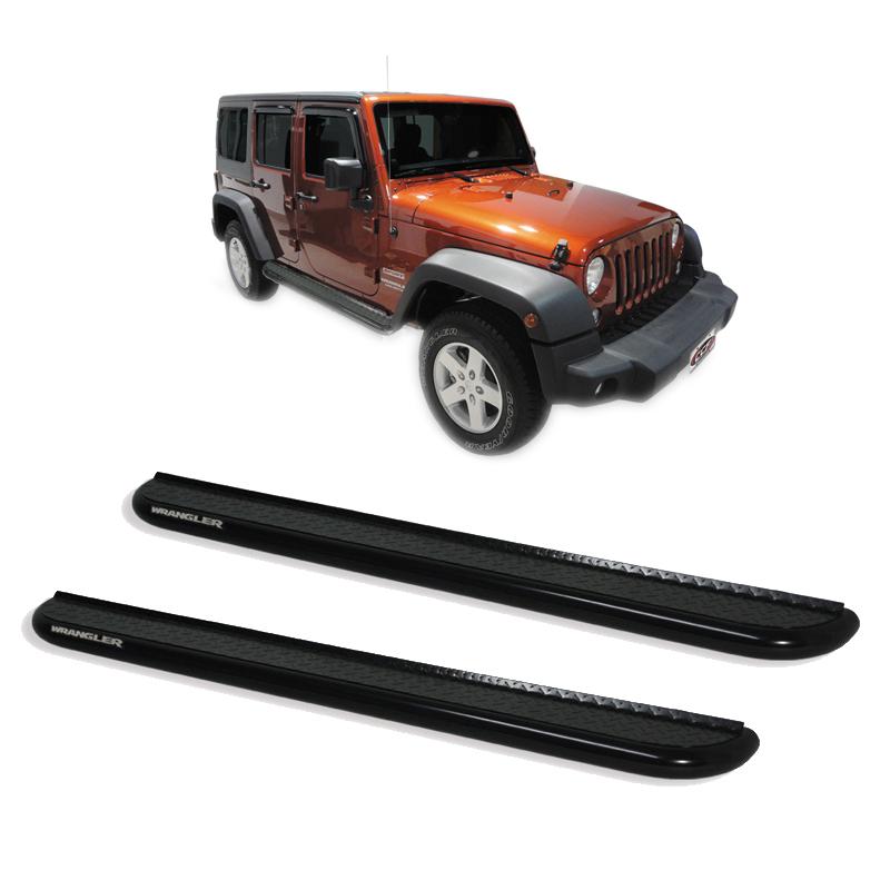 Estribo Plataforma Preto Jeep Wrangler 4 portas  - TERRA DE ASFALTO ACESSÓRIOS