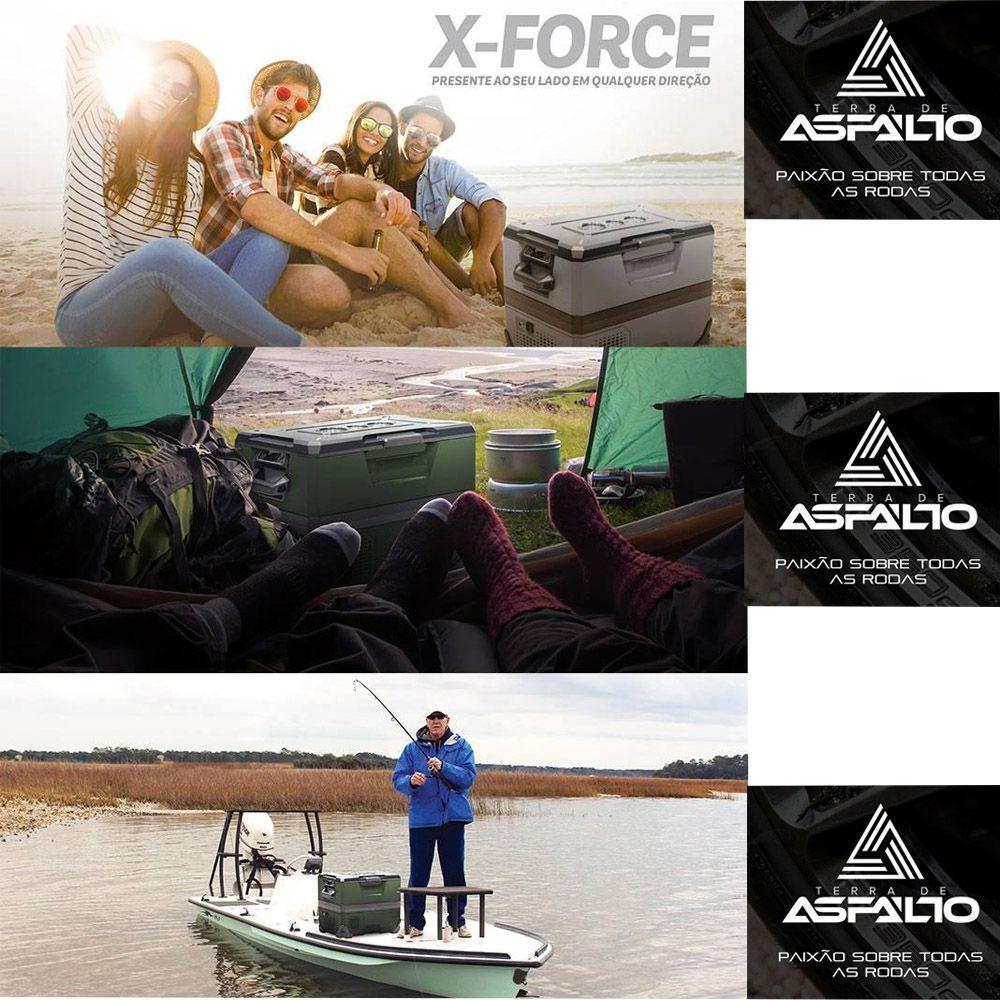 Geladeira Veicular Portátil X-Force Maxiclima 12 e 24 volts - Cor Cinza