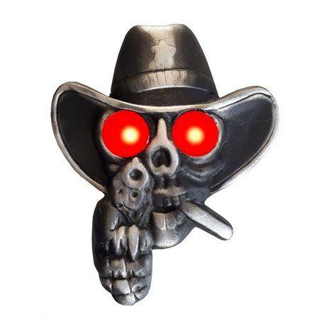Caveira Cowboy Para Caminhão Iluminada Bivolt