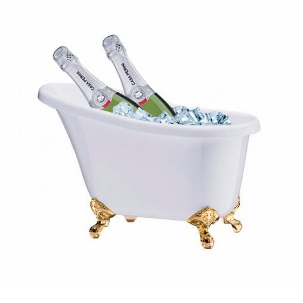 Champanheira Banheira - Ideal 4 Garrafas - Branco