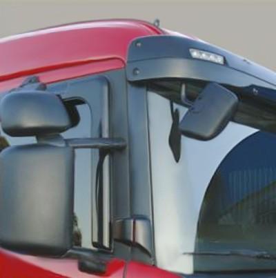 Conjunto Espelho Auxiliar Frontal Convexo com Braço Volvo FH / FM Cabine Alta 2010 a 2014