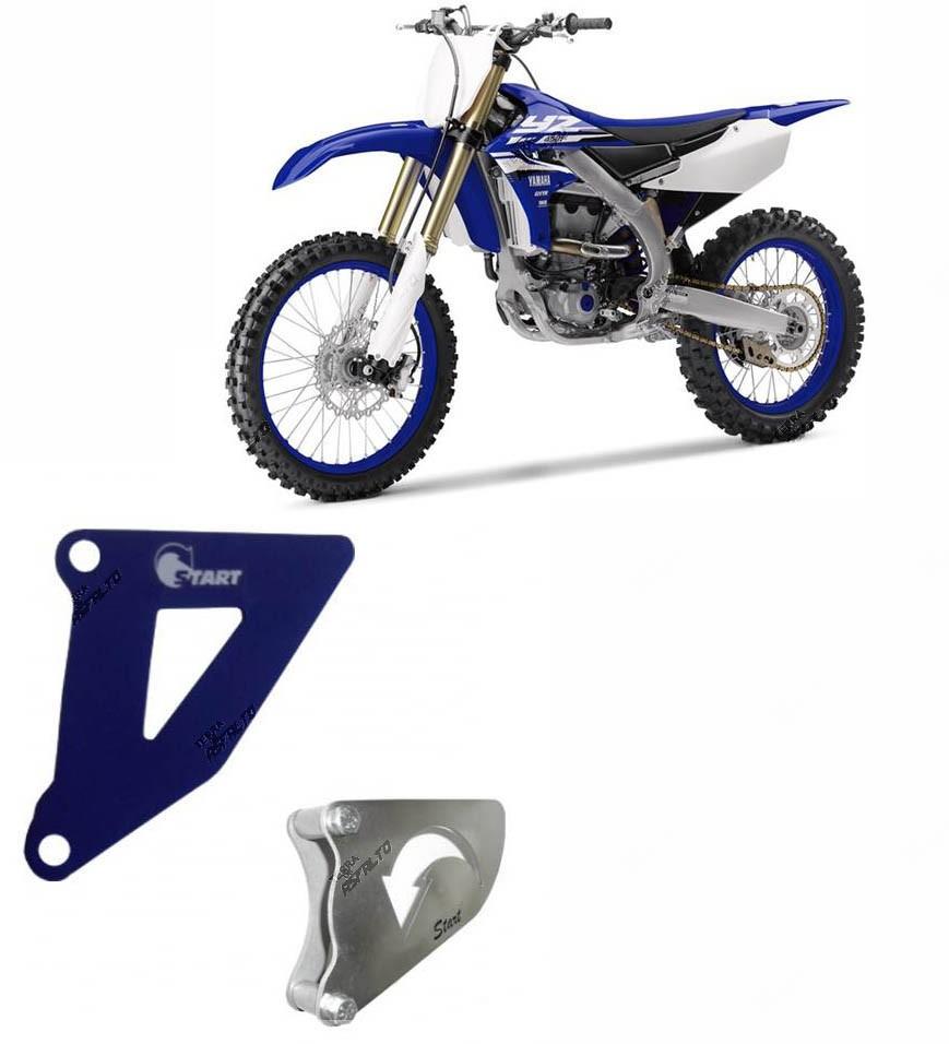 Conjunto Tampa e Proteção Casco/Pinhão Alumínio Azul  YZ/WR