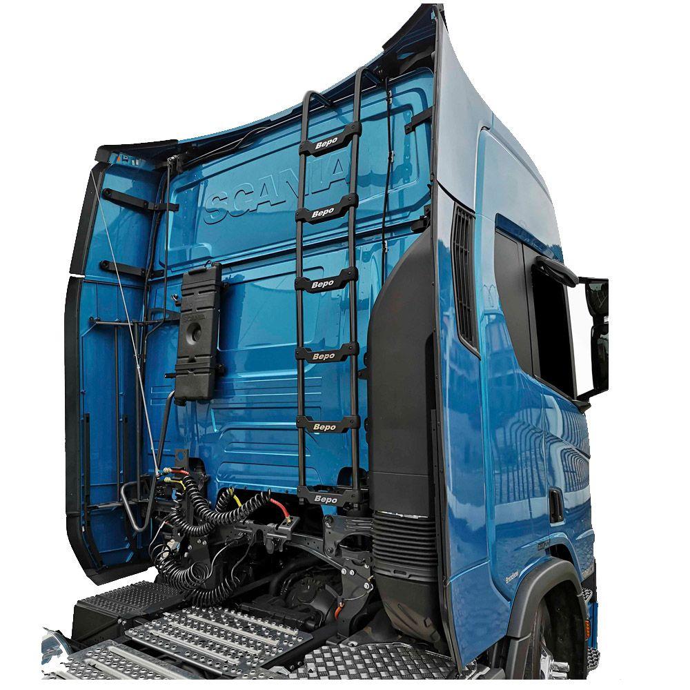 Escada Cabine Traseira Preto Scania S6 Teto Alto 2019 2020