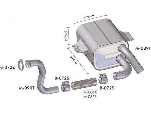 Escapamento Mercedes Benz 1723 / 1725 / 2423 / 2425 Atego Motor 6 cil.   Euro 3
