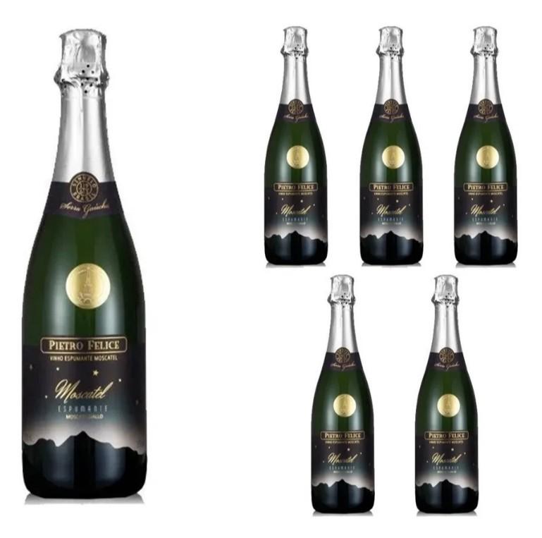 Espumante Moscatel Pietro Felice 750ml Caixa Com 6 Premiado
