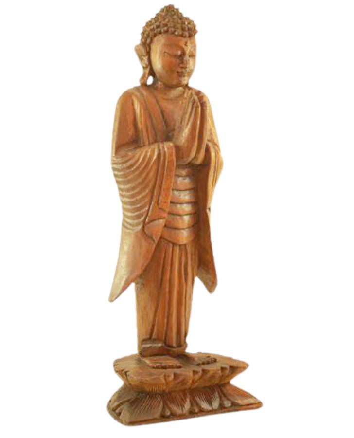 Estatua Imagem de Buda Em Pé Mad Bali Natural Imp
