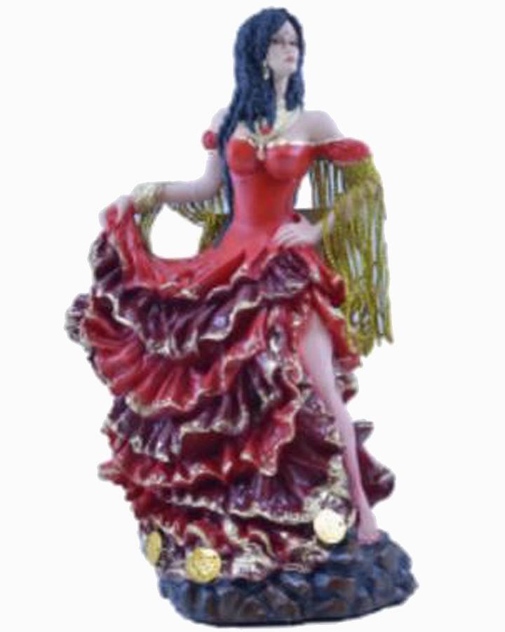 Estatua Imagem de Cigana M Vermelha