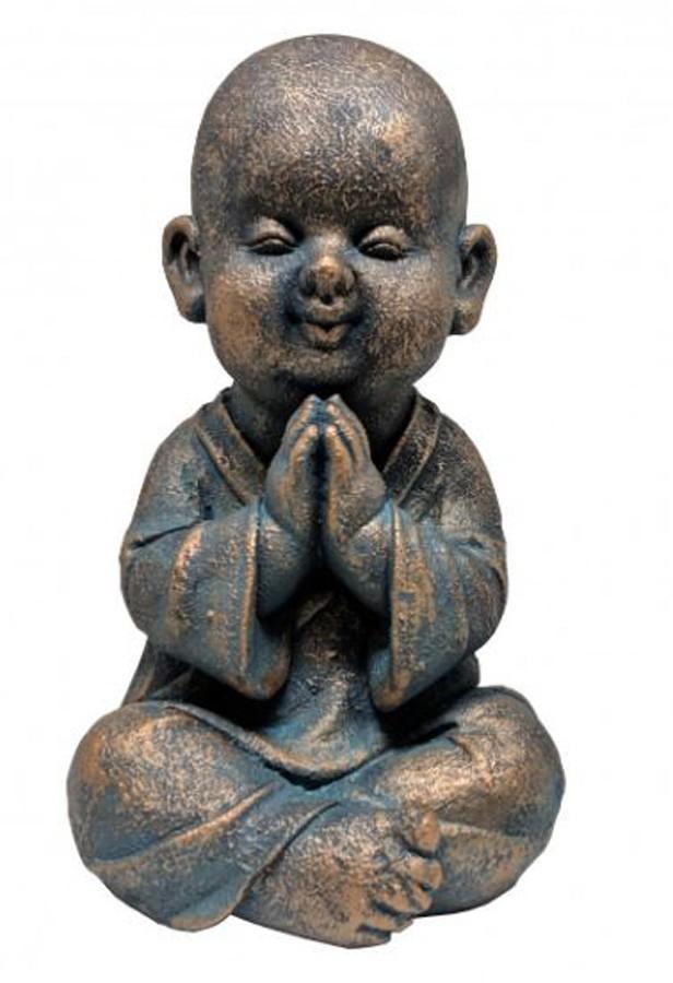Estatueta Decorativa Buda 18x17x32cm