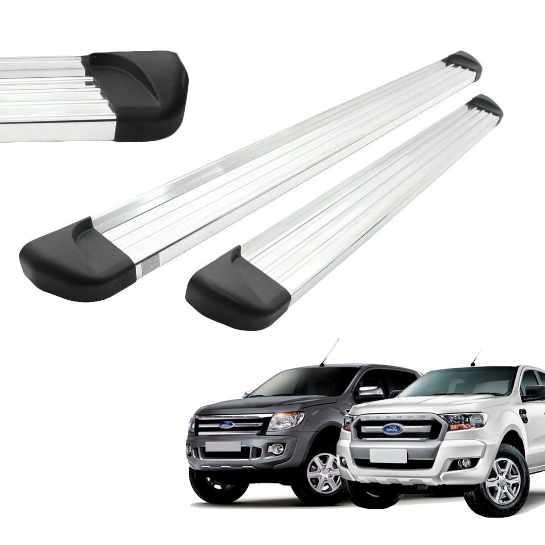 Estribo Aluminio Polido Cabine Dupla Ranger 2013 a 2018 2019 2020