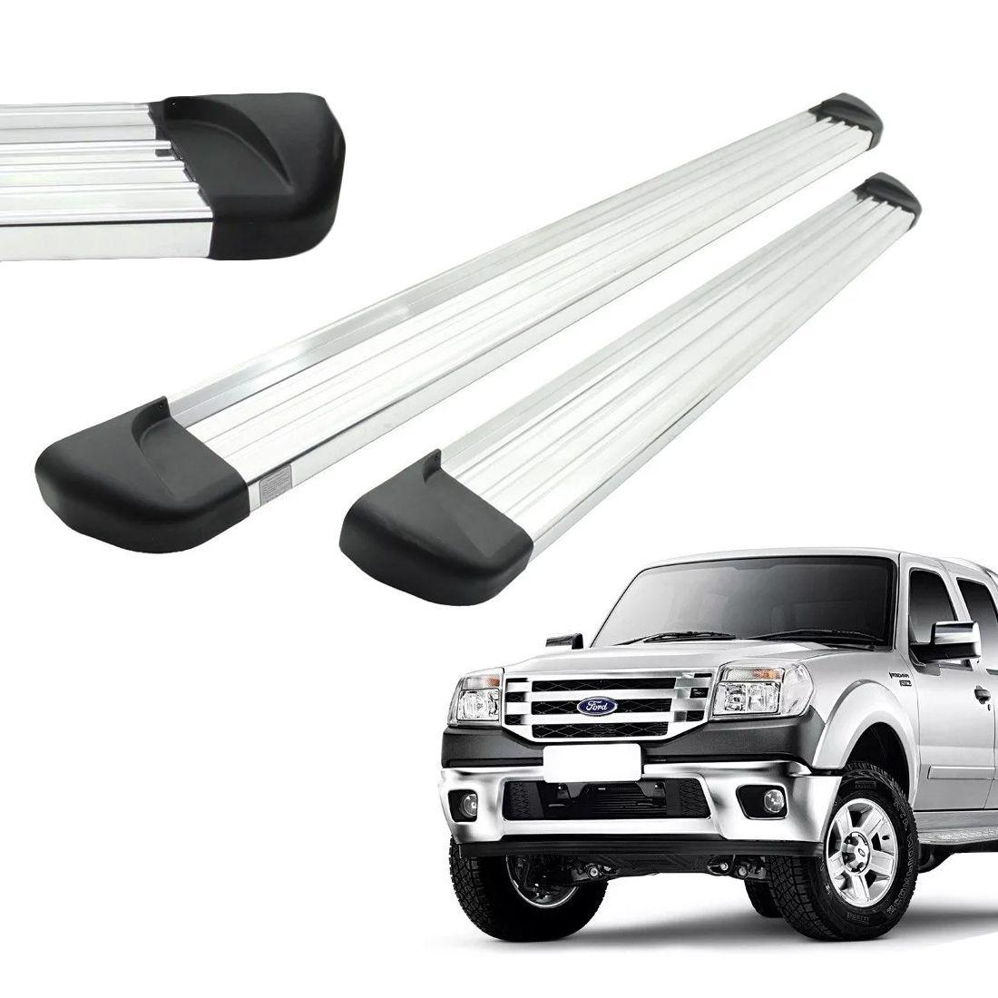 Estribo Aluminio Polido Cabine Dupla Ranger 98 a 2010 2011 2012