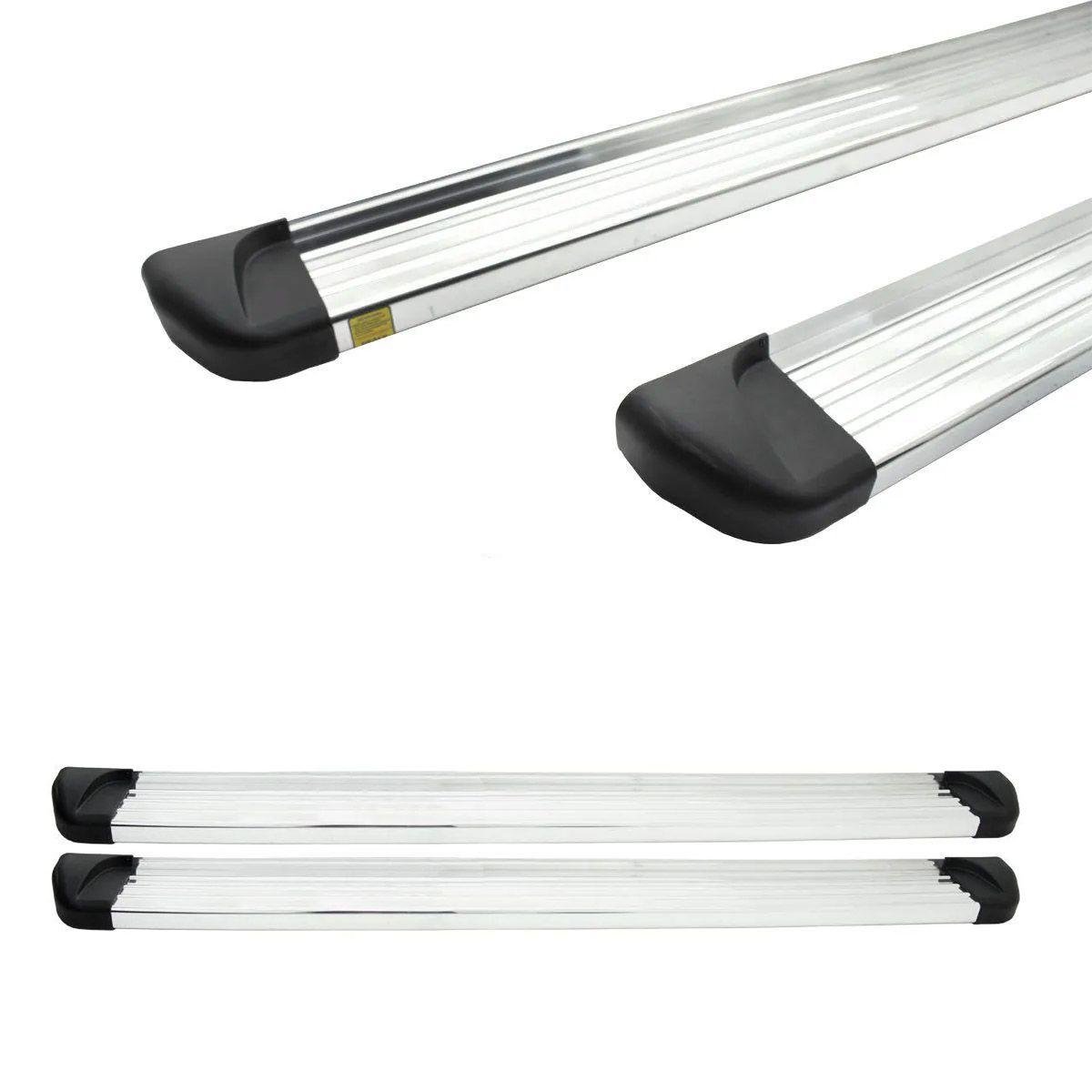 Estribo Aluminio Polido Cabine Dupla S10 2012 a 2018 2019 2020