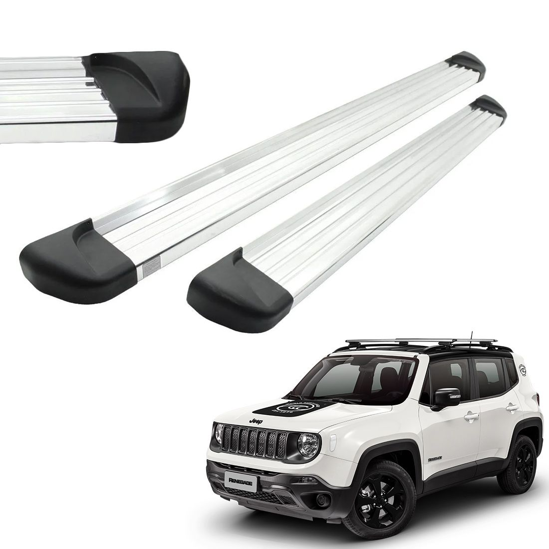 Estribo Aluminio Polido Jeep Renegade