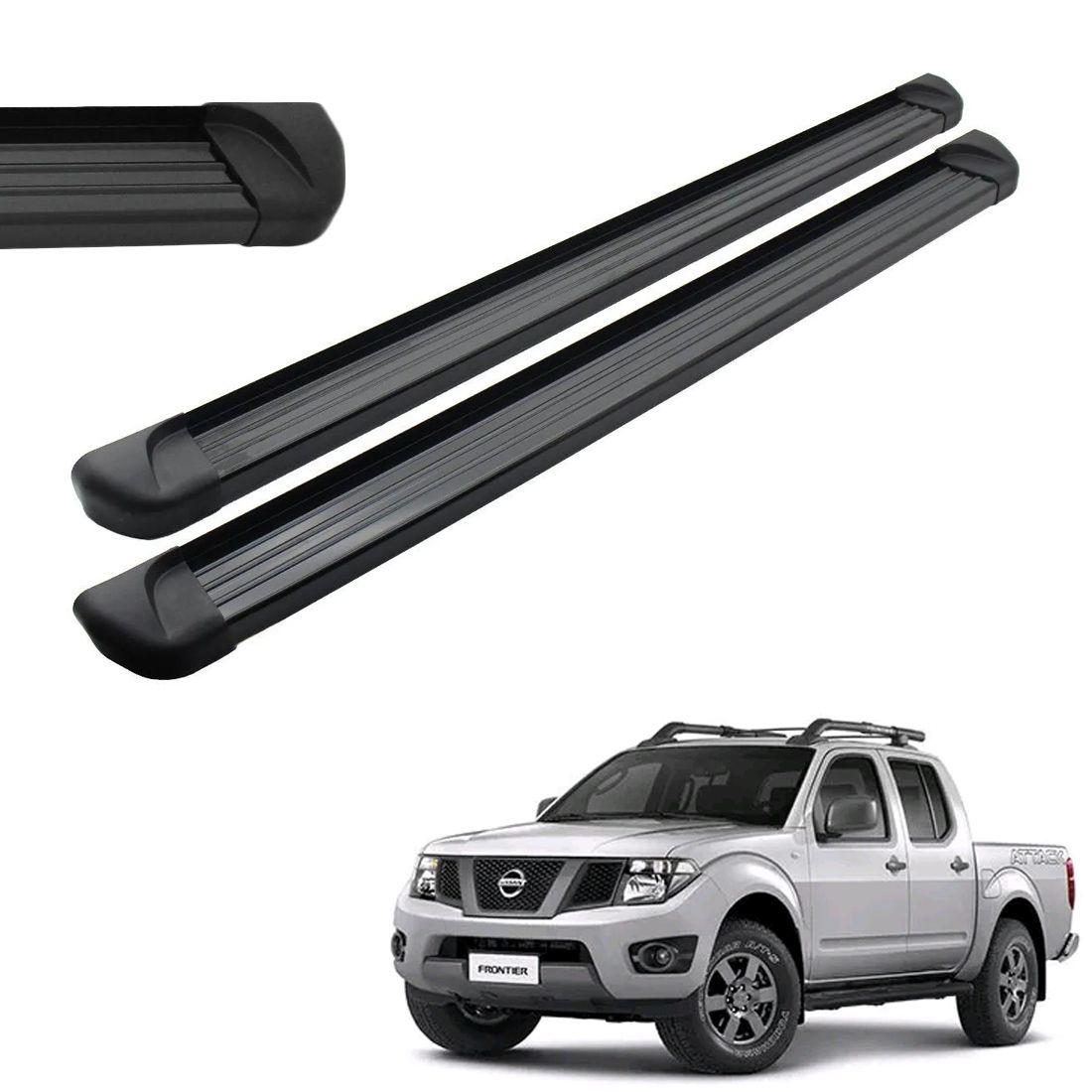 Estribo Aluminio Preto Cabine Dupla Nissan Frontier 2008 A 2014 2015 2018