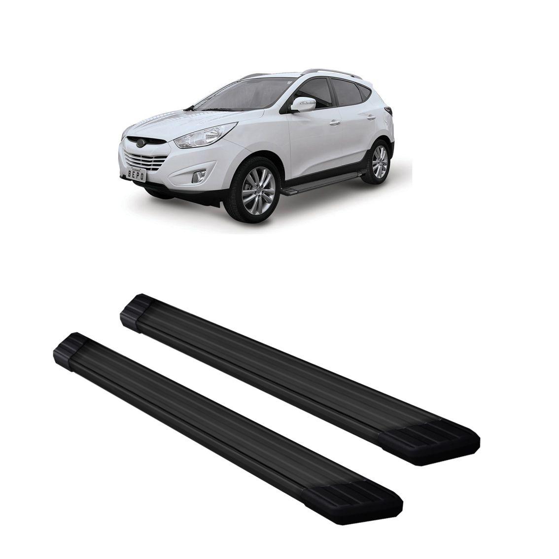 Estribo Aluminio Preto Suv II - Hyundai IX35 - BEPO