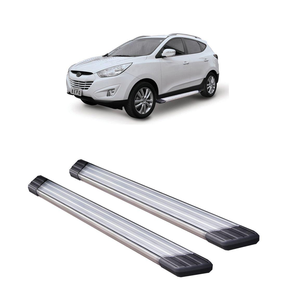 Estribo Aluminio Suv II Hyundai IX35 BEPO 2011 a 2015  - TERRA DE ASFALTO ACESSÓRIOS