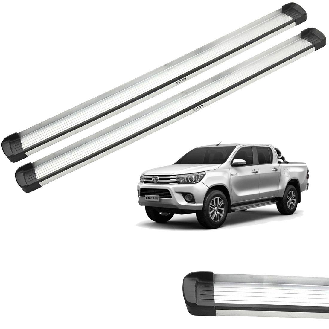 Estribo Bepo G3 Aluminio Hilux 2016 a 2019