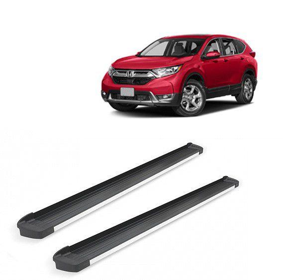 Estribo G3 Alumínio Preto Fosco com Frente em Alumínio Polido para Honda CRV