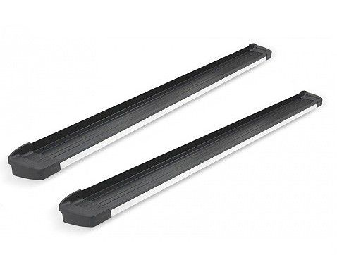 Estribo G3 Alumínio Preto Fosco com Frente em Alumínio Polido para Sorento 2010 e 2011