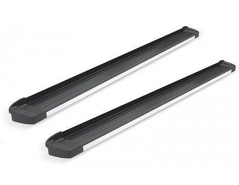 Estribo G3 Alumínio Preto Fosco com Frente em Alumínio Polido para Spin