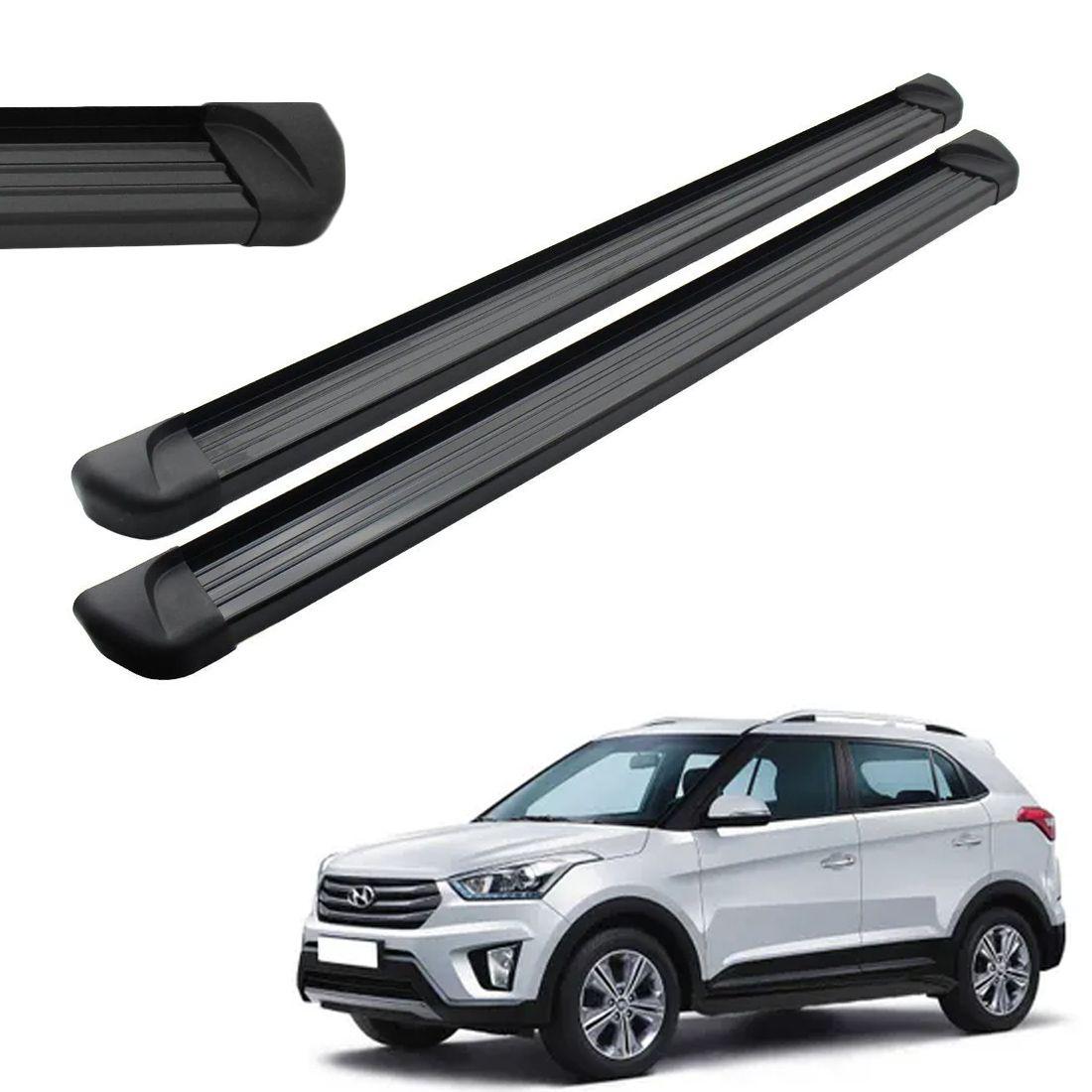 Estribo Lateral Aluminio Preto Hyundai Creta