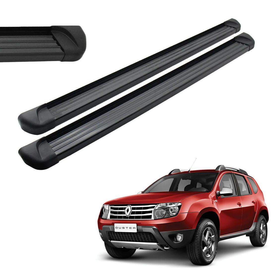 Estribo Lateral Aluminio Preto Renault Duster