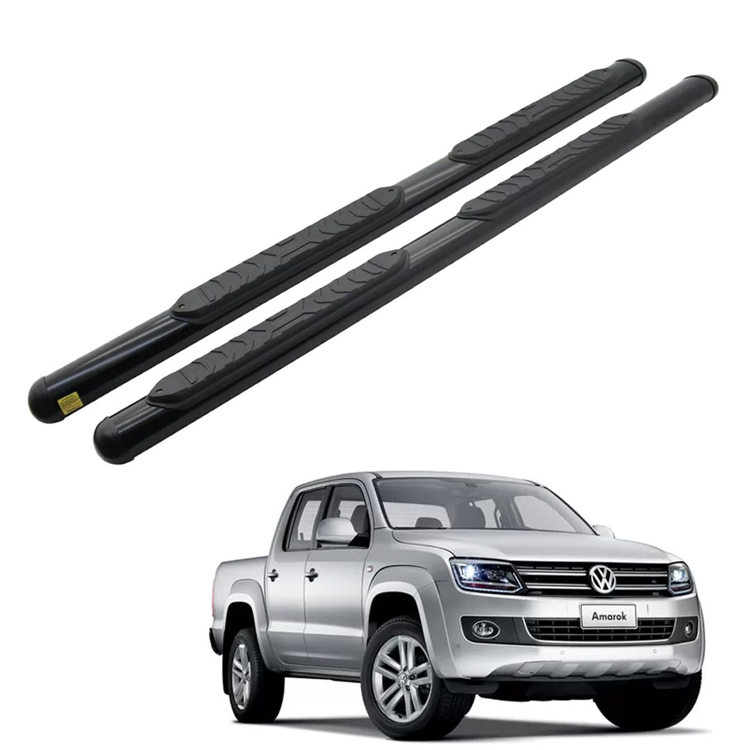 Estribo Lateral Oval Preto Amarok