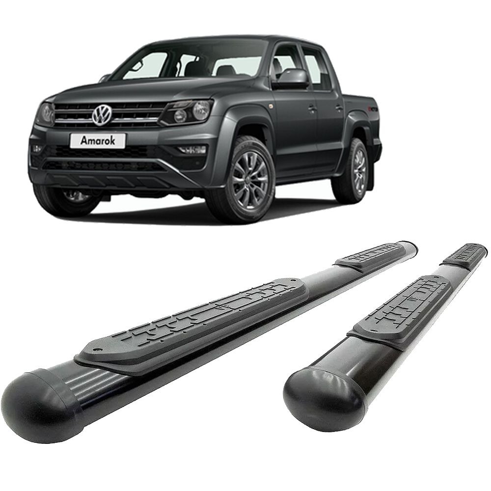 Estribo Lateral Oval Preto Amarok 2010 2018 2019