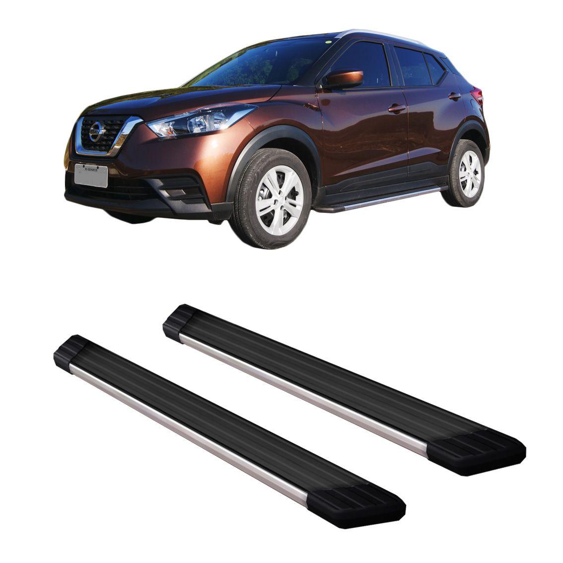 Estribo Nissan Kicks Alumínio Preto Frente Polido Suv II BEPO