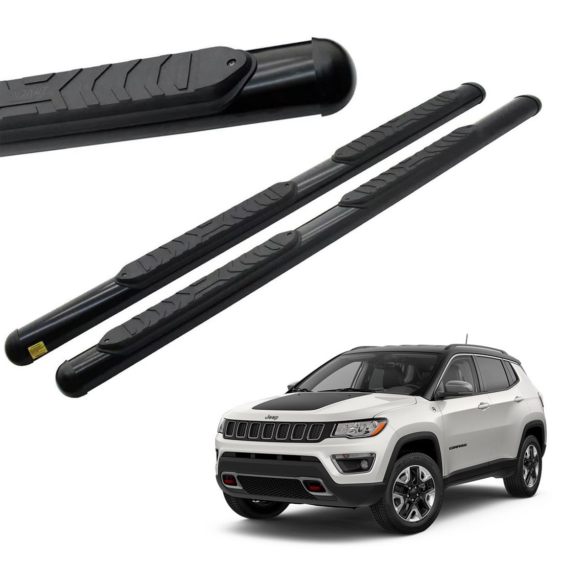 Estribo Oblongo Preto Jeep Compass