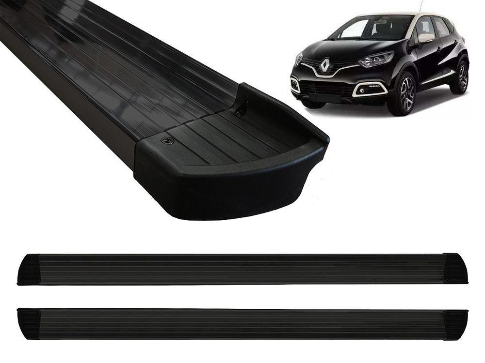 Estribo Plataforma Alumínio Preto Renault Captur