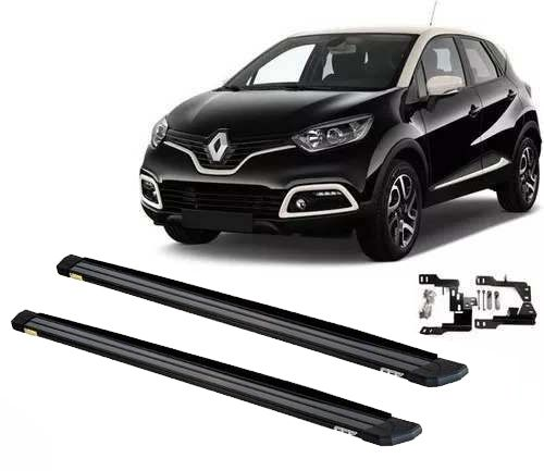 Estribos Laterais Slim Preto Renault Captur 17 18 19 Todas