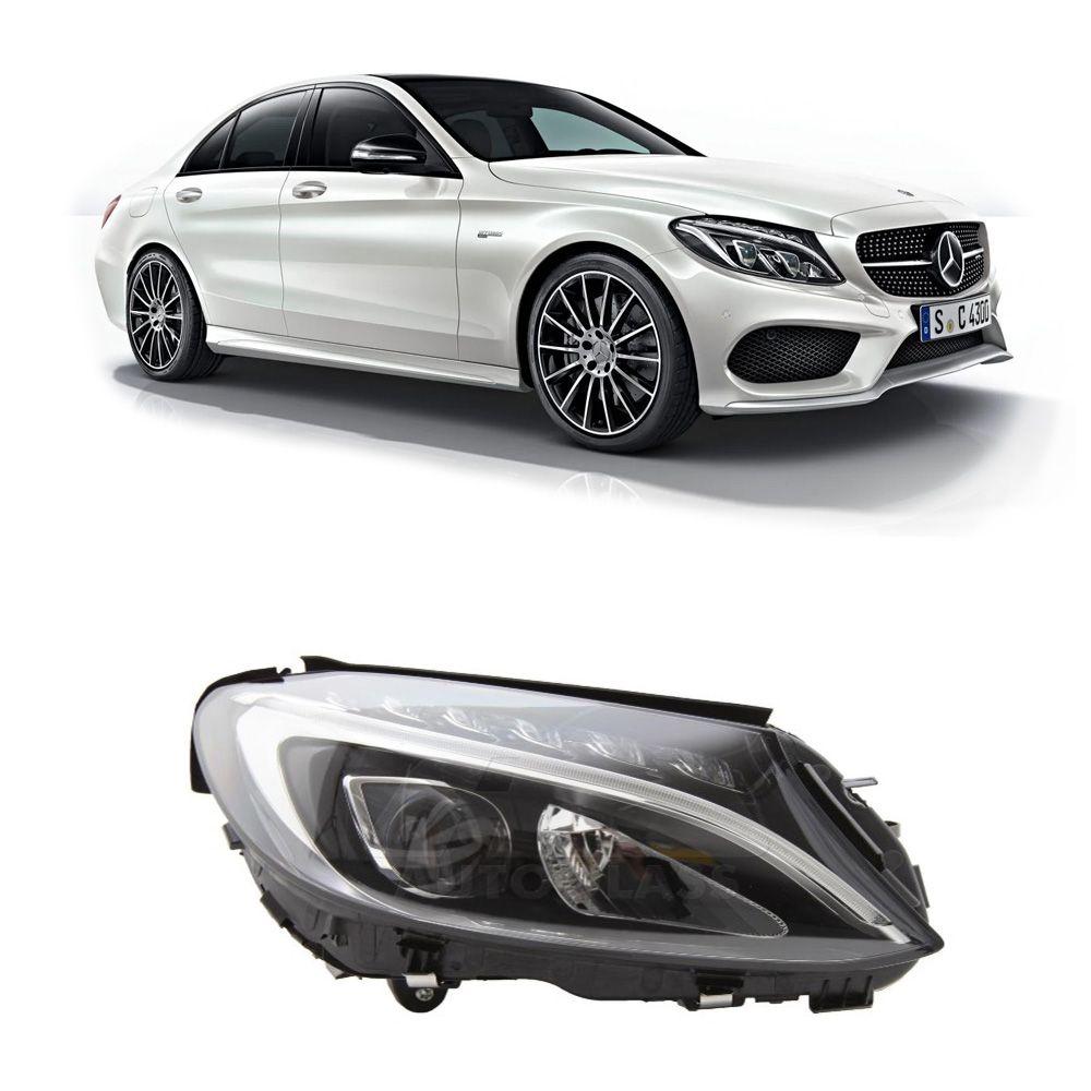 Farol Mercedes Benz Classe C 2015 a 2018 Direito