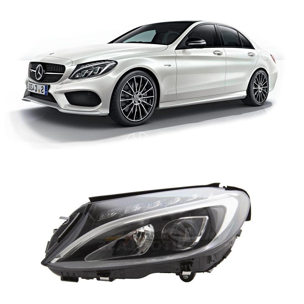Farol Mercedes Benz Classe C 2015 a 2018 Esquerdo