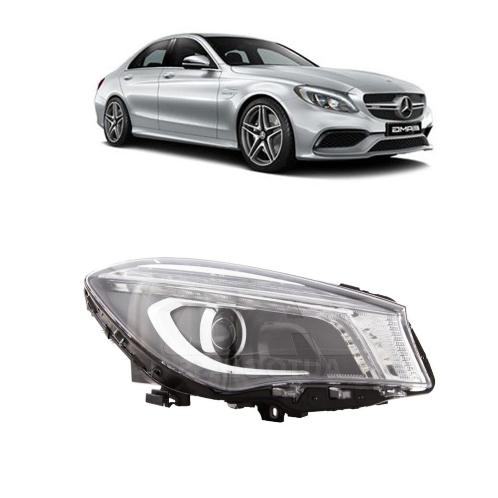 Farol Principal Mercedes Benz Cla 2014 Mascara Negra Direito