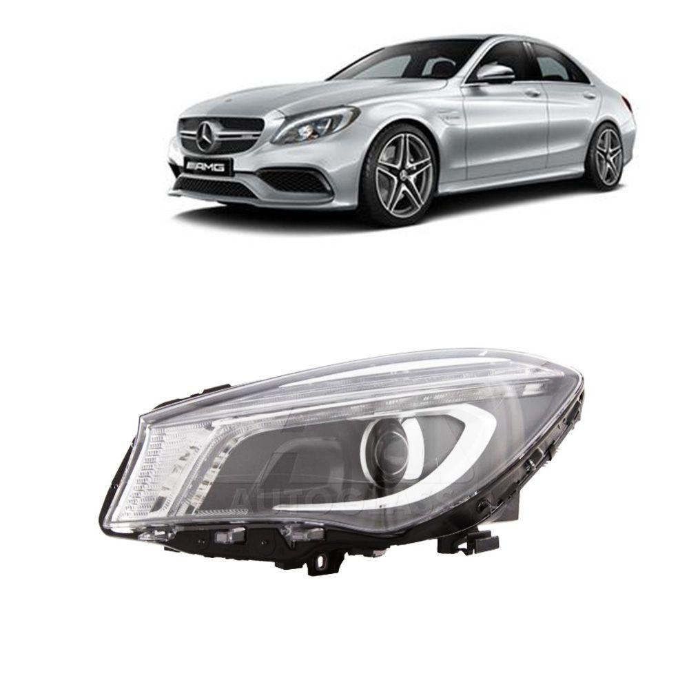 Farol Principal Mercedes Benz Cla 2014 Mascara Negra Esquerdo