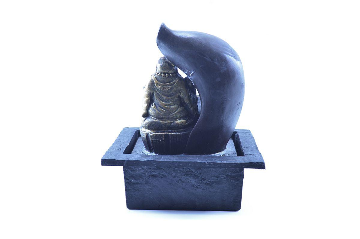 Fonte de Água Buda M Gordo 27cm