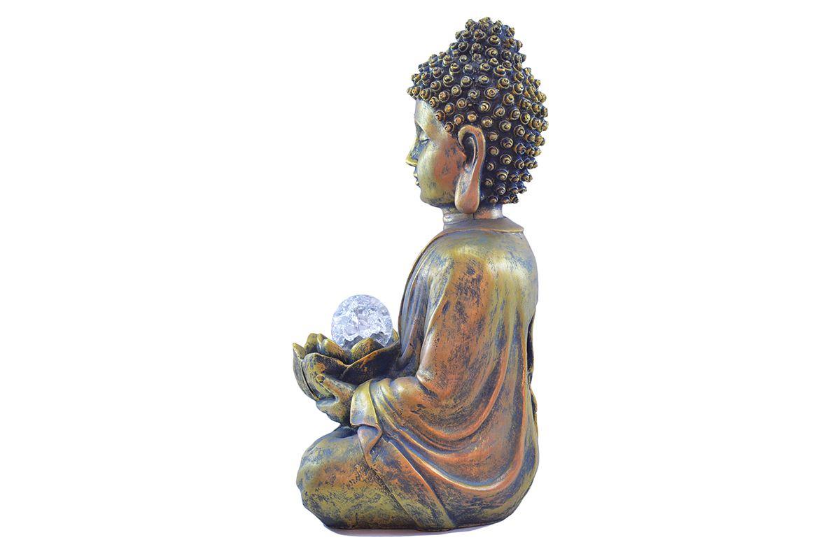 Fonte de Água G Buda com Bola 37cm