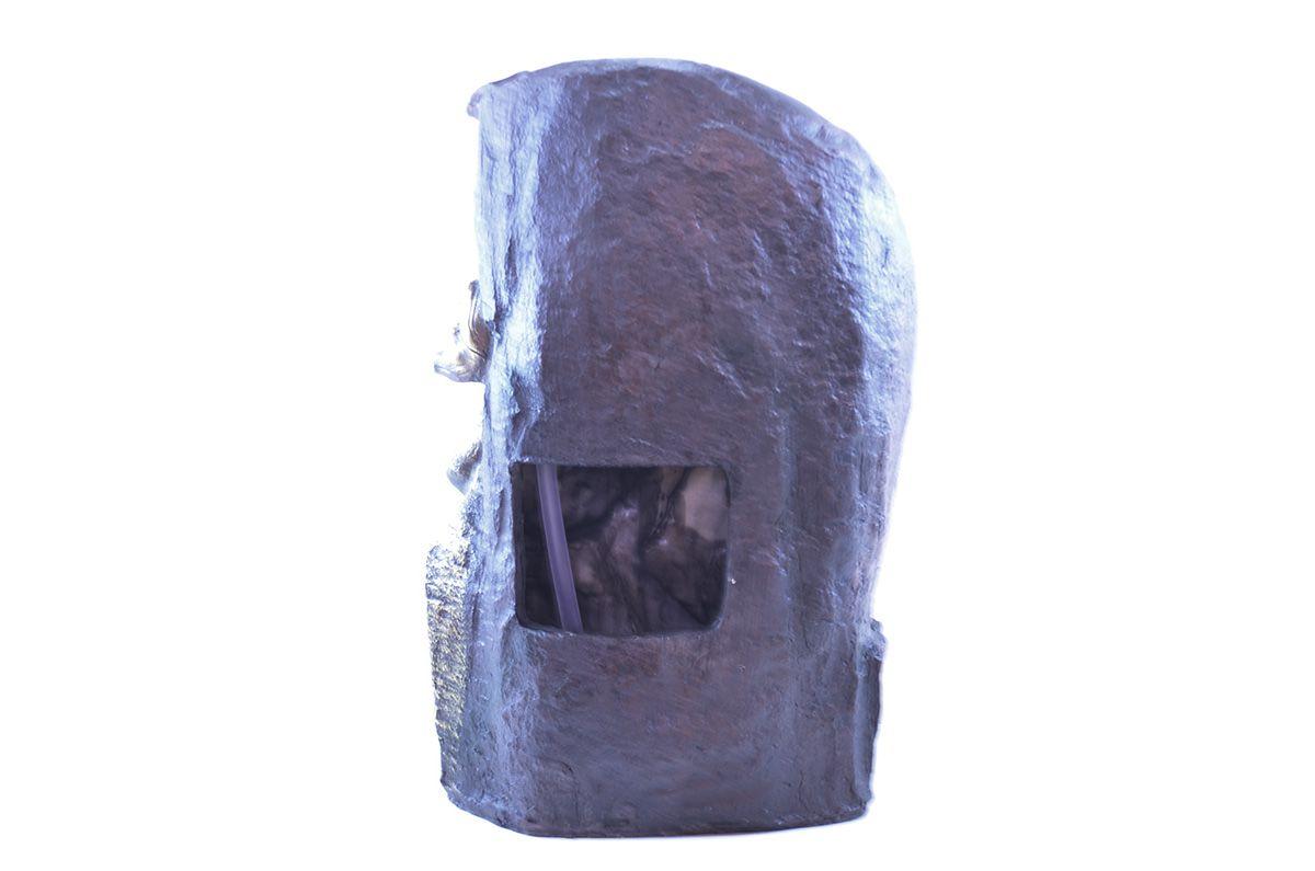 Fonte de Água G Buda com Folhas 40cm