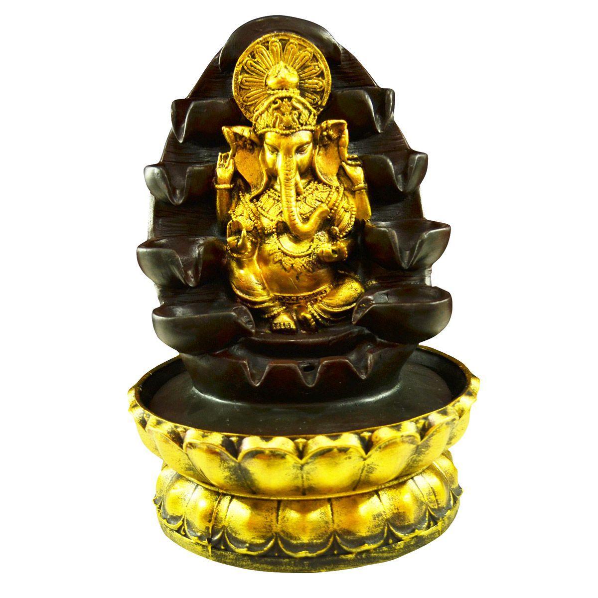 Fonte de Água Ganesha M Resina