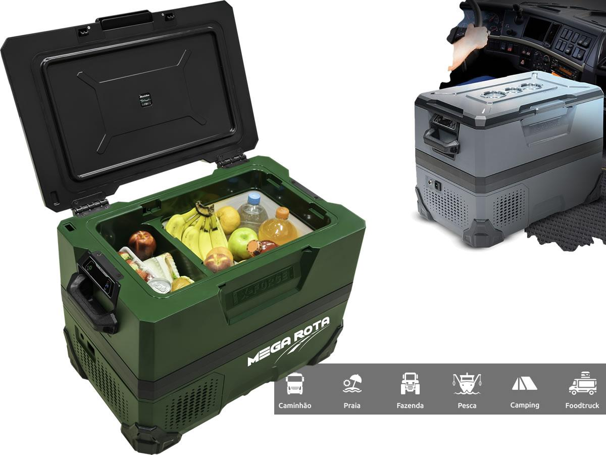 Geladeira Veicular Portátil X-Force Maxiclima 12 e 24 volts Cor Verde