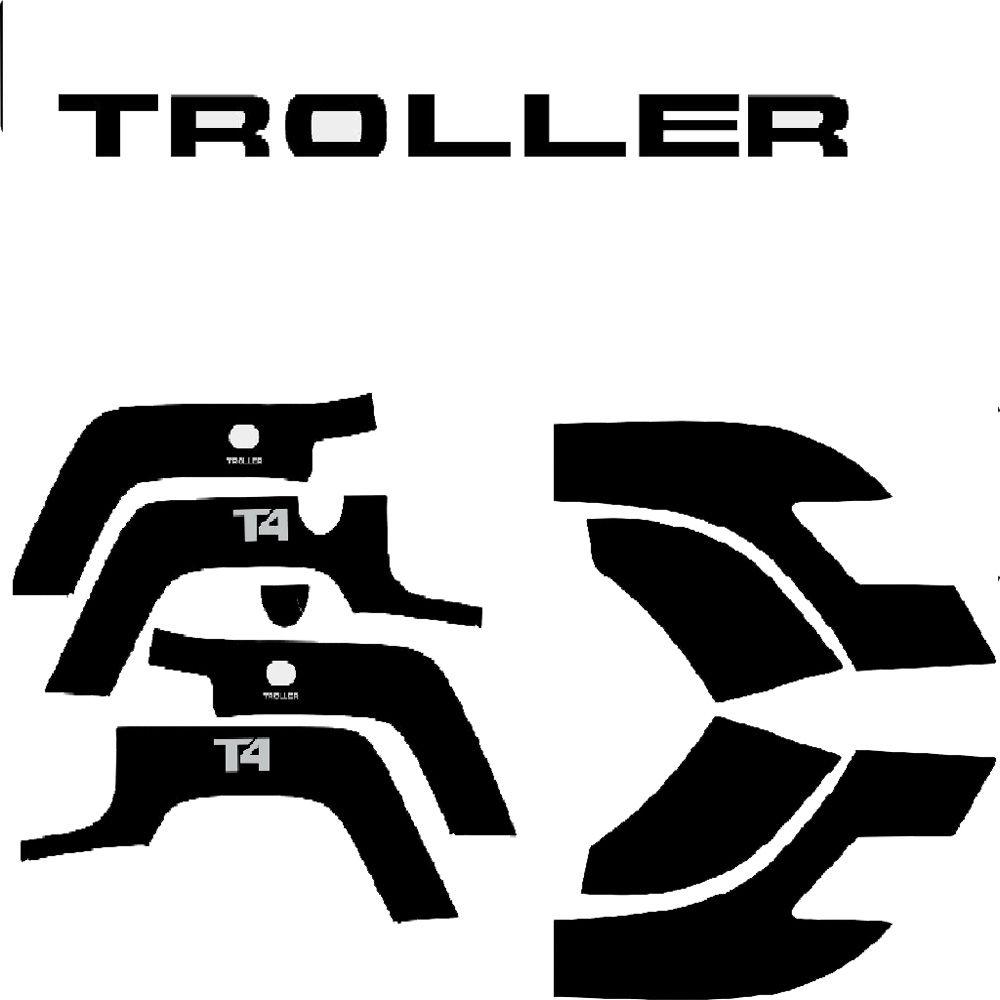 Kit Adesivos Para Polainas Paralama e Logo Troller T4 2015